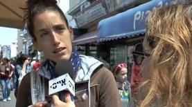 משאל רחוב במדרחוב נחלת בנימין בתל אביב (צילום: אייס TV), צילום: צילום: אייס TV