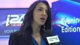 מתחילים להכיר אותנו. מגישת החדשות של i24new לוסי אהריש (צילום: אייסTV), צילום: צילום: אייסTV