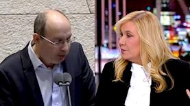 אילה חסון, אבי ניסנקורן, צילום: מסך חדשות 13, מסך ערוץ הכנסת
