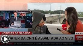 כתבת CNN שוד בשידור חי, צילום: מסך CNN