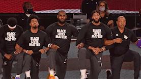"""שחקני ה-NBA עם הכיתוב """"Black Lives Matter"""", צילום: פייסבוק/Black Lives Matter UNLV"""