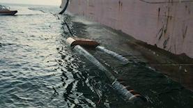 הנפט בים באשקלון, צילום: יצחק קודוביצקי, המשרד להגנת הסביבה