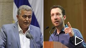 איציק שמולי ועמיר פרץ, צילום: אתר הכנסת