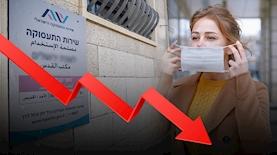 קורונה כסף אבטלה ירידה משרד התעסוקה, צילום: Yonatan Sindel/Flash90