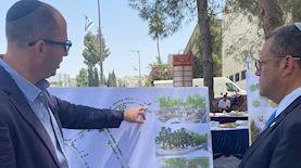 משה ליאון ותכניות השדרוג, צילום: דוברות עיריית ירושלים