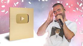 עומר אדם וכפתור הזהב של יוטיוב, צילום: David Cohen/Flash90