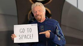 """ריצ'ארד ברנסון מציע כרטיסים לחלל, צילום: יח""""צ"""