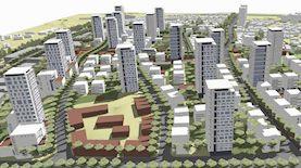 התוכנית להתחדשות עירונית ברמת אליהו. הדמיה: משרד נעמה מליס אדריכלות ובינוי ערים