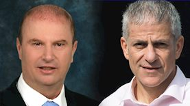 """דרור תורן מנכ""""ל אמריקה ישראל, ודני מור מנכ""""ל בסט יזום, צילום: מיכל ארבל, סיון פרג'"""