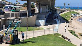 העבודות להקמת המרכז הימי בבת גלים, צילום: דוברות עיריית חיפה